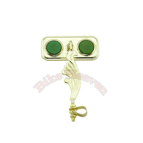 Lowrider Gold Wing Style Bicycle Rectangle Mirror Lowrider Cruiser Bike NEW