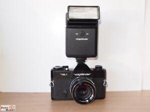 SET-Voigtlander-VSL1-Objektiv-Color-Ultron-1-8-50-Blitz-VC30-eher-neuwertig