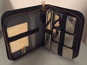 buy popular 0e34c 6ff6e Details about Vintage Tommy Traveler Men's Vanity Set in Leather Zipper  Case- Stamped Germany