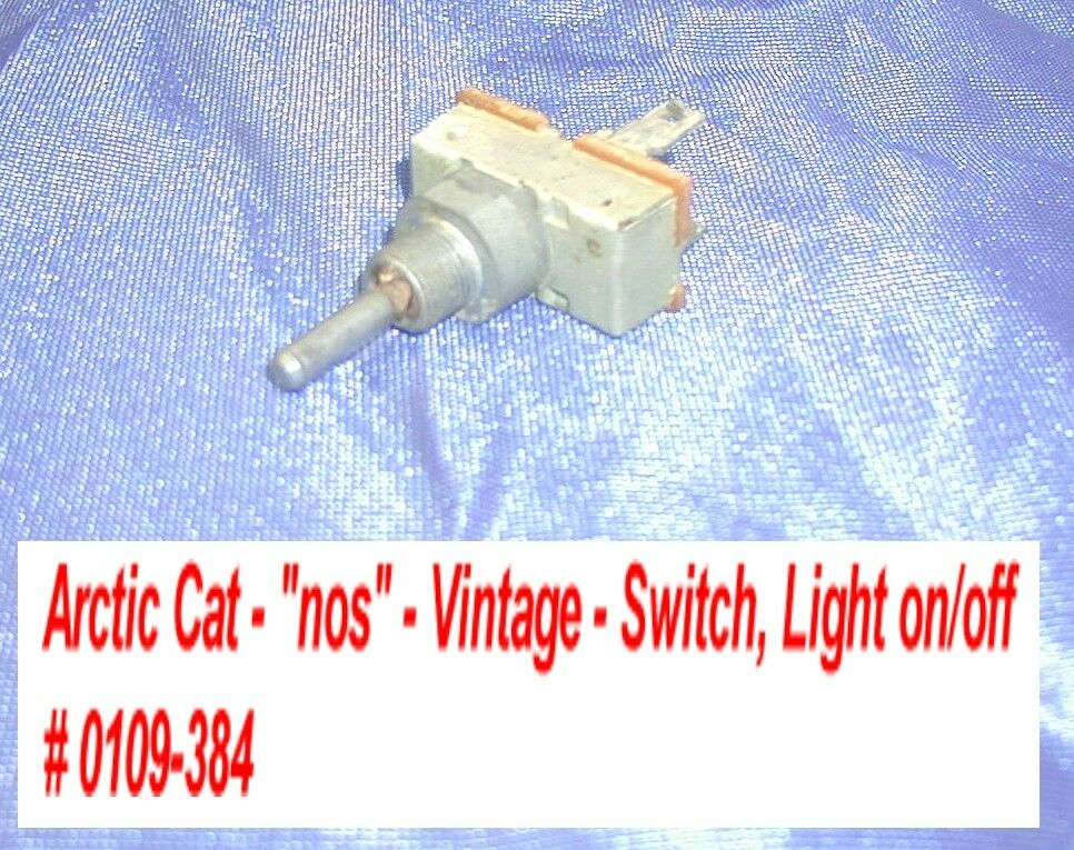 Arctic Cat Switch, Light On Off - Console Vintage '72-73 Puma  nos