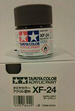 Tamiya acrylic paint XF-24 Dark Grey 23ml.