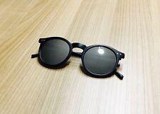 Beard Buster Vintage Retro Sonnenbrille silber verspiegelt & Rahmen schwarz