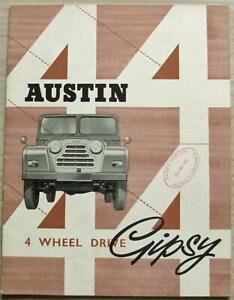 AUSTIN GIPSY 4 WHEEL DRIVE Car Sales Brochure c1958 #1578/C