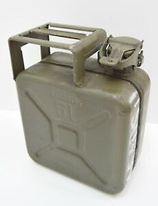 Original-German-Army-5-Litre-Fuel-5L-Can-SANDRIK-Military-Petrol-Can-Rare-Issue