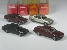 Klasse: Herpa Konvolut mit 4 BMW Limousinen in OVP