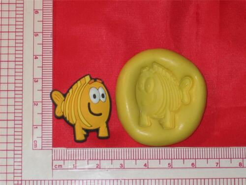 Grouper A750 Chocolate Fondant Candy Bubble Guppies Silicone Mold Mr