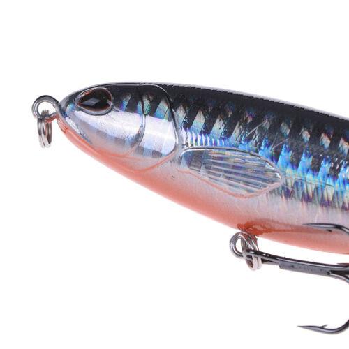 Fischköder Künstlicher Köder Harte Plopper Rotierenden Schwanz Angelgerät GeYBHL