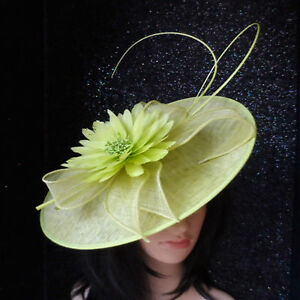 Image is loading FAILSWORTH-ZEST-LIME-GREEN-WEDDING-FASCINATOR -DISC-OCCASION- 21f85b8ed6a