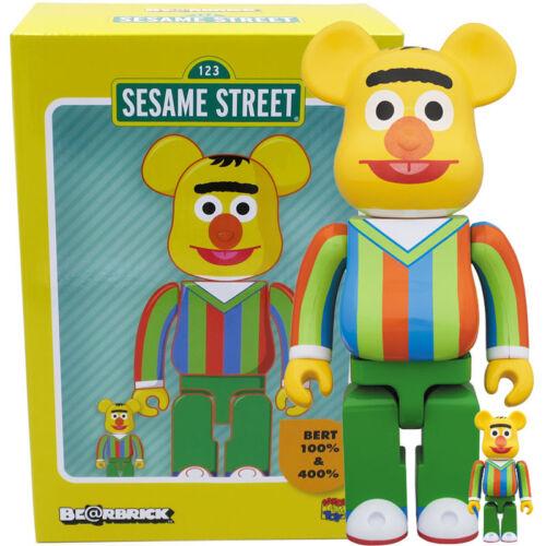 Medicom Be@rbrick Bearbrick Sesame Street Bert 100/% /& 400/% Figure