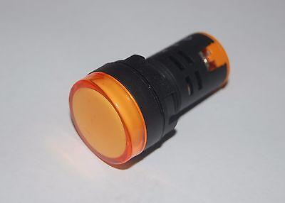 10PCS Pilot light Yellow  Led Lamp 22mm Screw Terminal 12V AC/DC  AD16