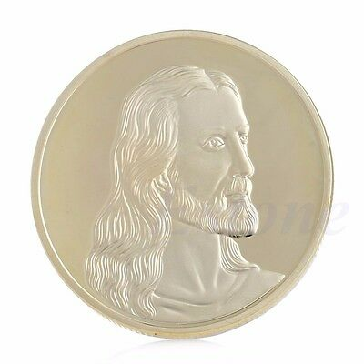 Gold Plated Jesus The Last Supper Souvenir Token Coin Art Collectible Christmas