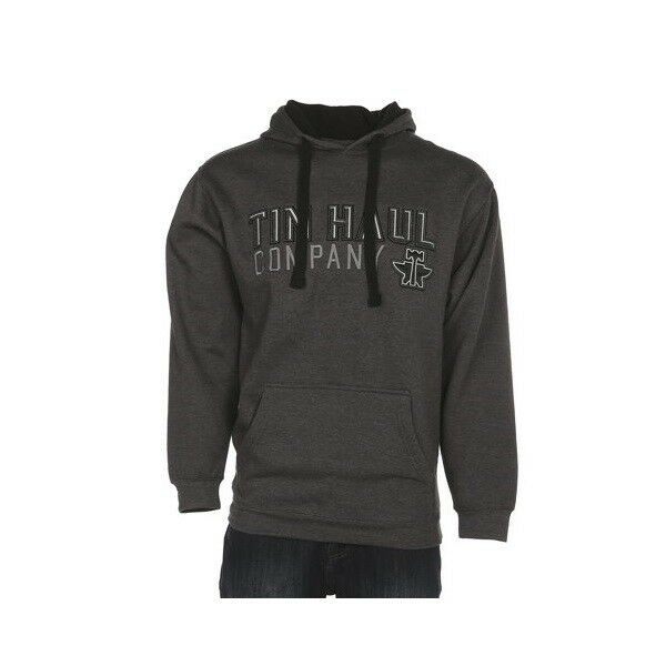 Tin Haul Men's Grey Embroidered Hoodie. 10-097-0300-0766 GY