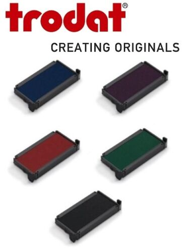 2 X 4910 TRODAT INK PAD,REPLACEMENT PRINTY RUBBER STAMP PADS-BLUE,BLACK