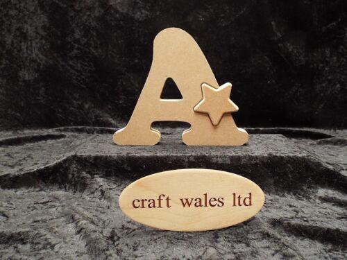Mdf alphabet lettres avec étoile en bois-gratuit debout lettre bundle 20 pour £ 64