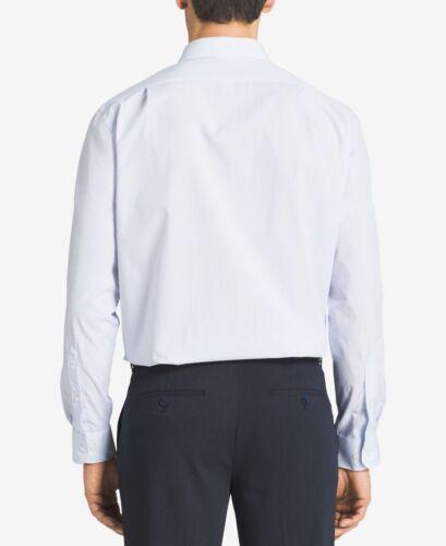 $89 Van Heusen Men Regular-Fit White Blue Stripe Button Dress Shirt 17 32//33 Xl