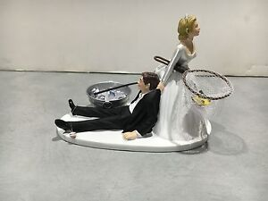 beer wedding cake topper fish fishing humor groom wedding cake topper 11259