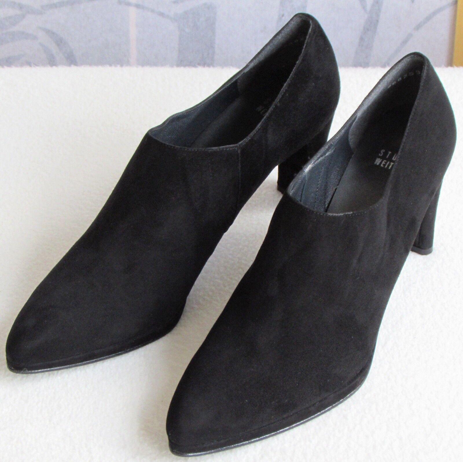 vieni a scegliere il tuo stile sportivo 10.5 10.5 10.5 N   Stuart Weitzman donna nero Suede Leather High Heel Pump avvioie Shoe  designer online
