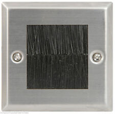 Steel Brush Wallplate Single Face Plate AV Cable Face Ideal network HDMI etc