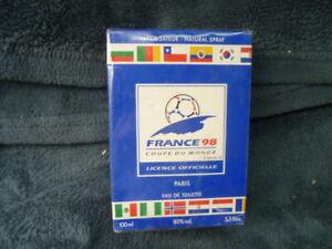 Football-france-98-Copa-Del-Mundo-Bote-Nuevo-Agua-de-Toilette-100ml-Sellado