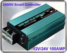 New~2400W Smart Solar Controller DC12V/24V, MPPT,100AMP, Solar Panel/Cooling Fan