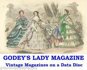 Godey-039-s-Lady-Magazine-Americana-Collection-Illustrated-Vintage-Mags-on-Data-Disc