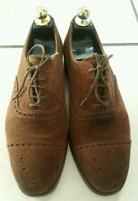 260- Derby à lacets daim marron Crockett & Jones ALDGATE  6,5E/40,5 bon état