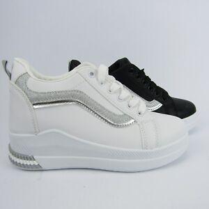 sneakers-zeppa-rialzo-tacco-6-nero-scarpe-donna-ginnastica