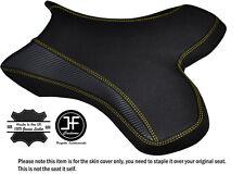 Agarre De Carbono Amarillo Puntada Personalizado Se Ajusta Yamaha 1000 YZF R1 04-06 Cubierta de asiento delantero