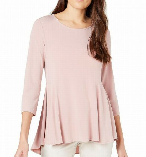 Alfani Womens Blouse Clay Pink Size XL Jersey Swing Top Scoop Neck $59 132