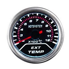 "2"" 52mm Tint Smoke Len Exhaust Gas Temperature Pointer Gauge Meter US Shipping"