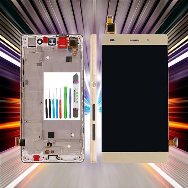 Original Huawei Ascend P8 Lite ALE-L21 Pantalla LCD Pantalla Táctil Oro + Marco