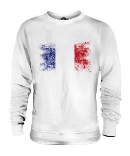 France Drapeau Délavé Unisexe Pull Français Maillot de Football Cadeau