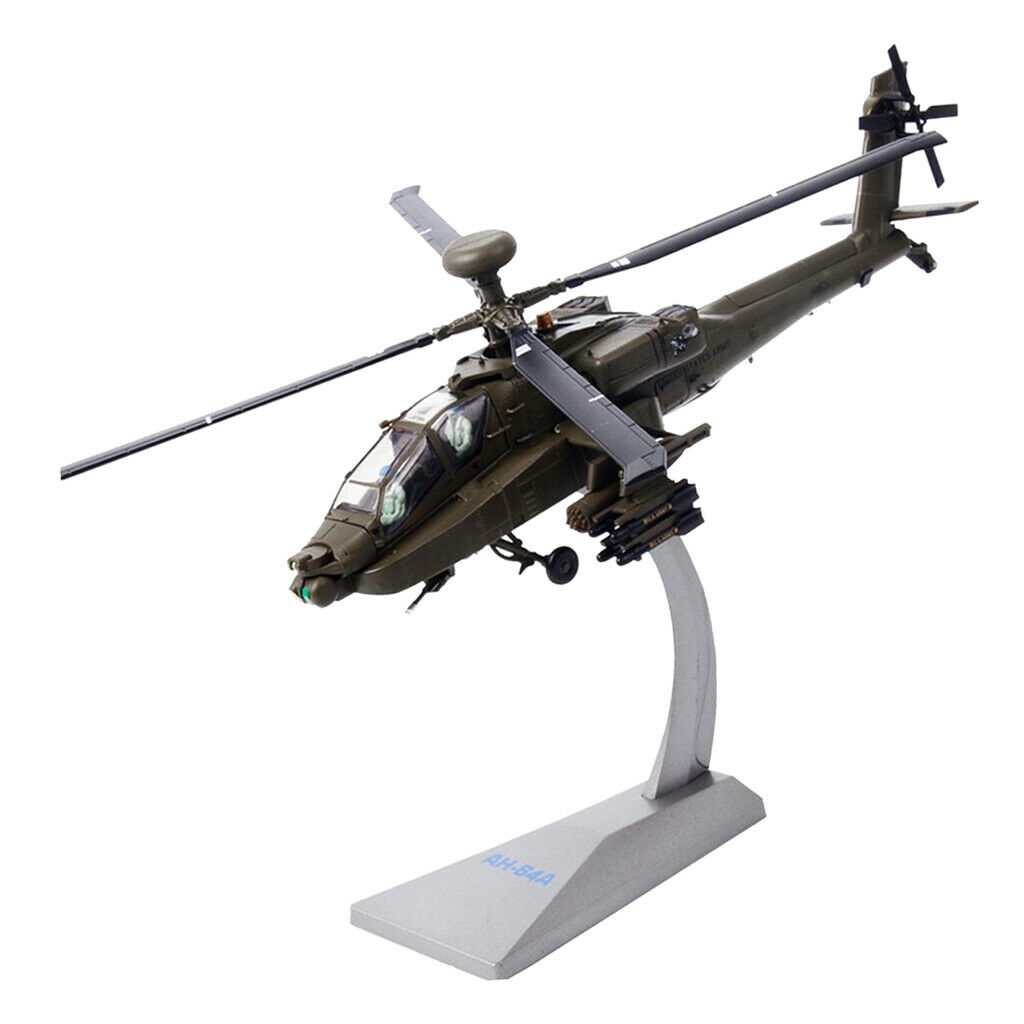 1 72 AH-64A Apache Helicopter Airforce Airplane Model with Display Stand