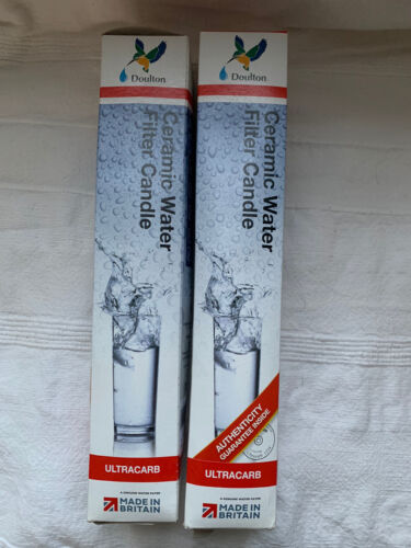 Doulton Ultracarb Water Filter Candle x 2 10inch Short Mount W9123006. Free P&P