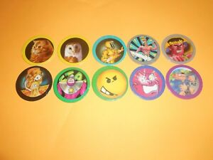 148 Pogs Pog Caps Milkcaps Flippo : Lot De 10 Hoppies