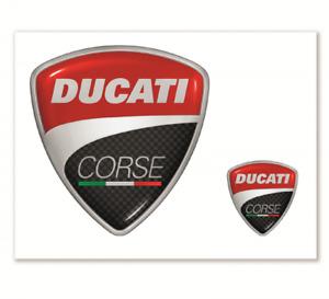 Complexé Ducati Corse Autocollant 2 Pièces Sticker Kit Neuf-afficher Le Titre D'origine