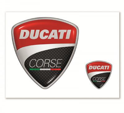 Billiger Preis Ducati Corse Aufkleber 2 Stück Sticker Kit Neu
