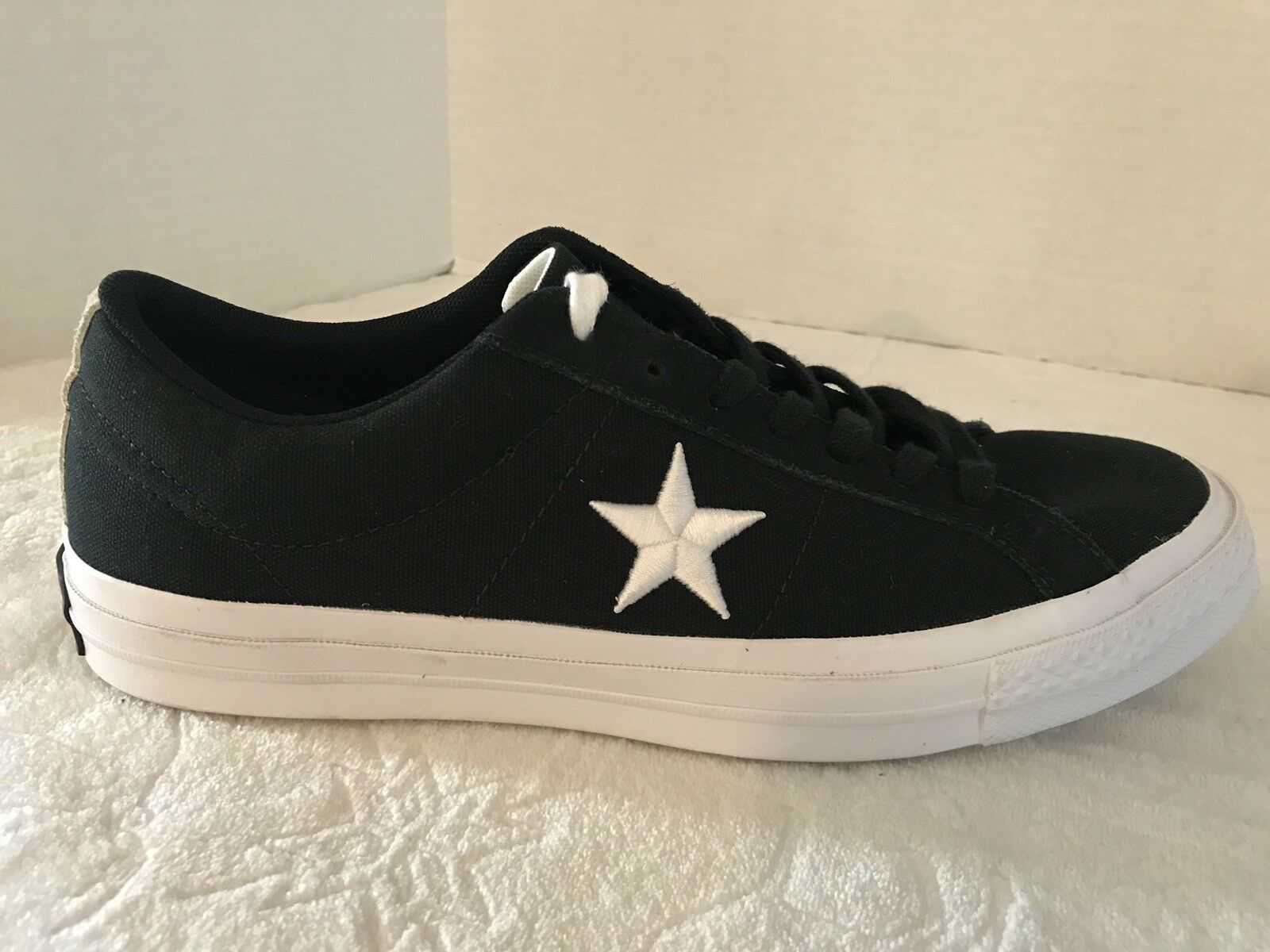 CONVERSE ONE STAR OX BLACK WHITE 160600C SIZE 9