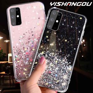 Huawei-Y5-2019-Y6-2019-Y7-2019-Bling-Glitter-Clear-Gel-Soft-Phone-Case-Cover