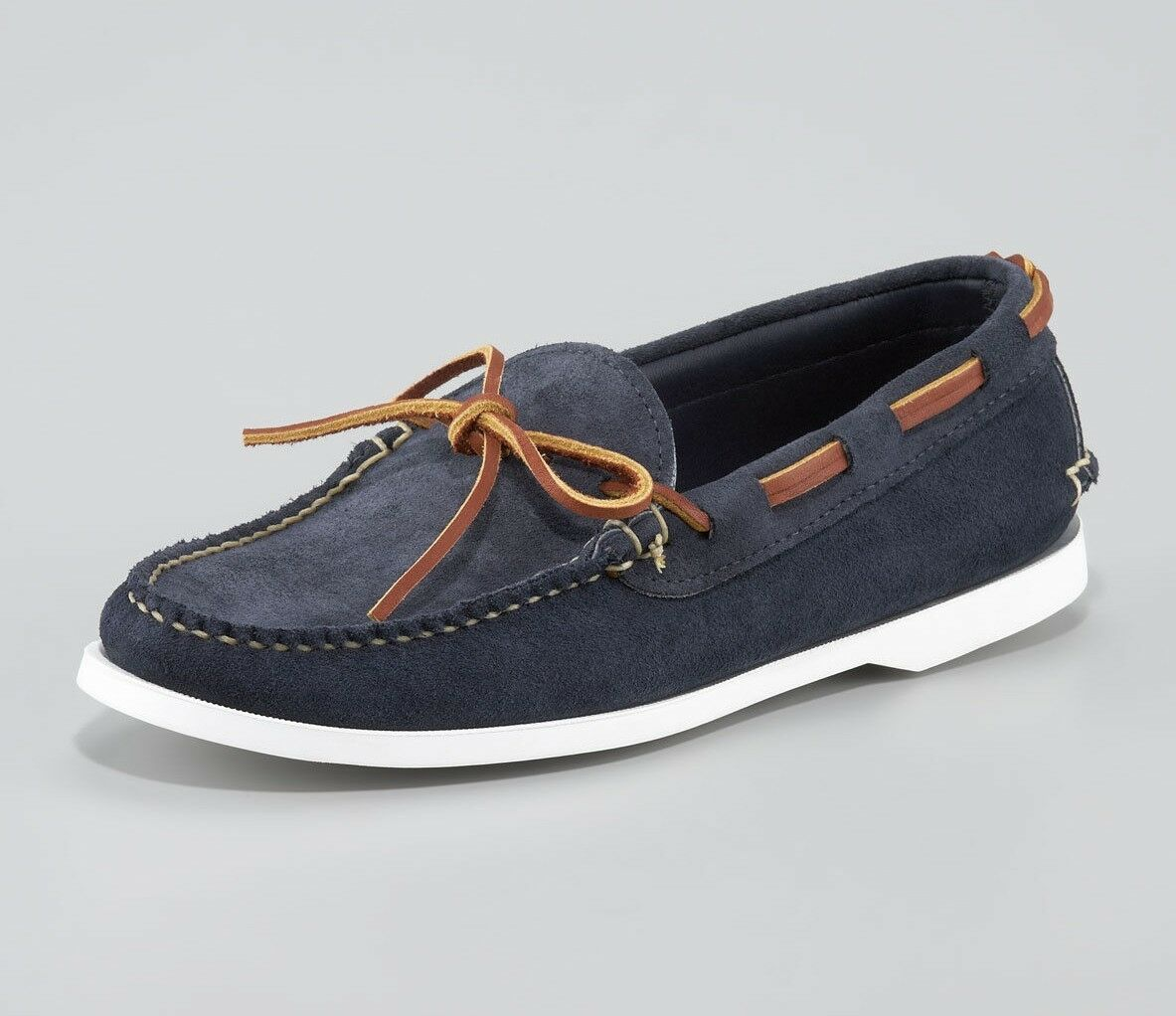 d59c305a6877aa Mens Ralph Lauren Made in in in USA bluee Suede Boat shoes Size 13 648fdd  ...