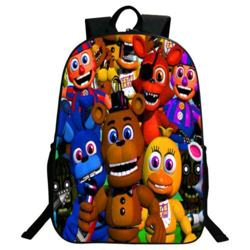 Five Nights At Freddy/'s FNAF Backpack Chica Bonnie Rucksack Laptop Schoolbag2019