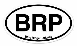"BLUE RIDGE PARKWAY Oval Bumper Sticker 3-5//8/"" x 6/"" BRP"
