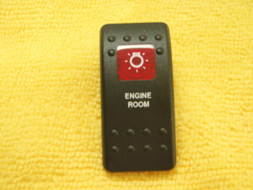 ENGINE ROOM LIGHT SWITCH BLK W 1 RED LENS CONTURA II CARLING V1D1 SWITCH ON//OFF