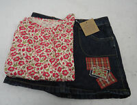 Lot Girl's Lands End Denim Skort & Shirt 4