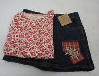Lot Girl's Lands End Denim Skort & Shirt 4