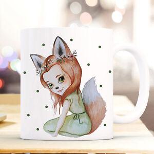 Sammlung Hier Tasse Becher Kaffeebecher Fuchsmädchen Fara Mit Grünen Punkten Geschenk Ts854 100% Garantie Tassen