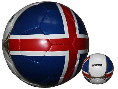 Ehrgeizig Derbystar Länder-fussball Island Fan-ball Iceland Training-fußball Gr.5