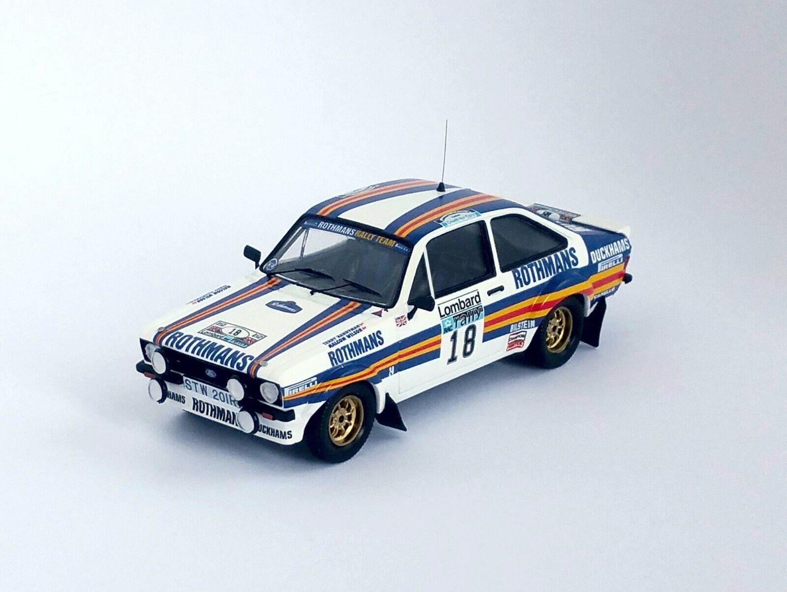 Ford Escort Mk2 RAC Rally 1981    18 Malcolm Wilson   Terry Harry - Troféu RRuk17  vente en ligne