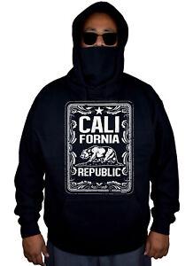 Sudadera estampado Bear con máscaras con de California vellón de Life de Republic etiqueta de masculina whisky negro Cali 1ErqTH1