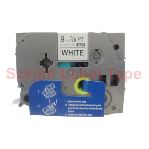 Brother TZ-221 P-Touch Laminated Compatible Black on white Tape 9mm 8m TZe 221
